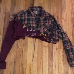LF FURST OF A KIND cropped sweatshirt/ flannel